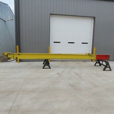 4000lb 2 Ton Capacity Wall-mount Overbraced Tie-rod Jib Crane 243 Swing