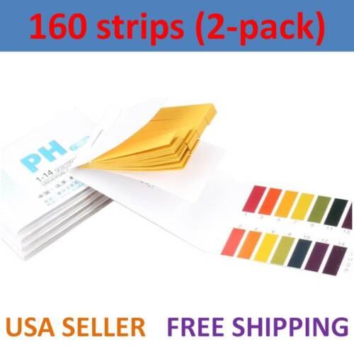 Laboratory 160 pH Indicator Test Strips 1-14 Paper Litmus Tester Urine & Saliva