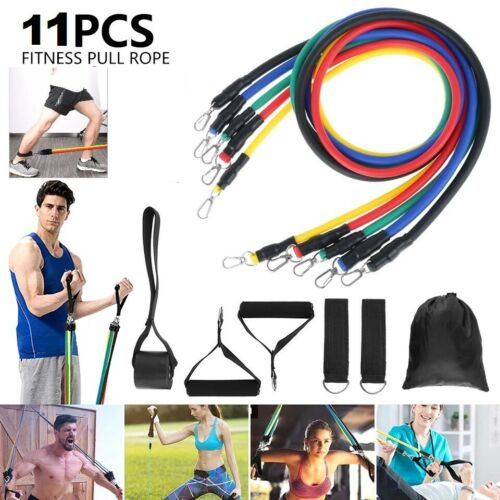 11Pcs Resistance Bands For Home Workout Exercise Crossfit Fitness Training Gyms