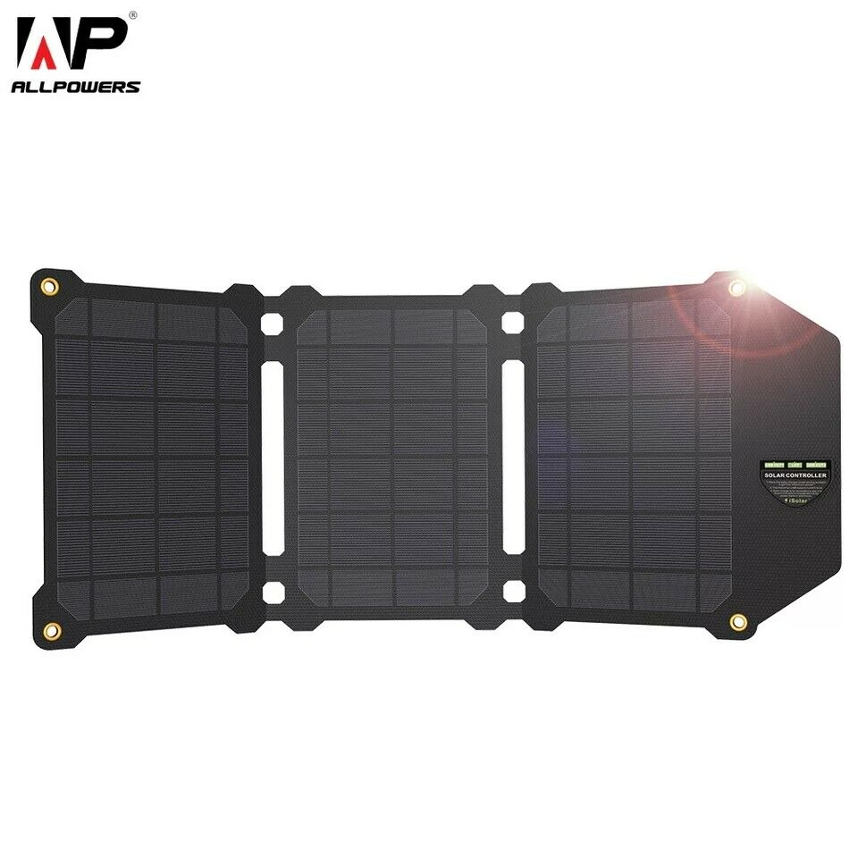 solar panel 21w portable foldable charger batteries