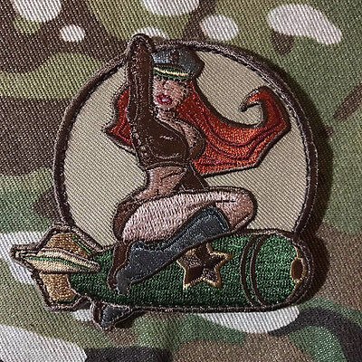 WWII US ARMY ISAF B52 AIR PINUP GIRL FOREST USA MILITARY VELCRO MORALE PATCH