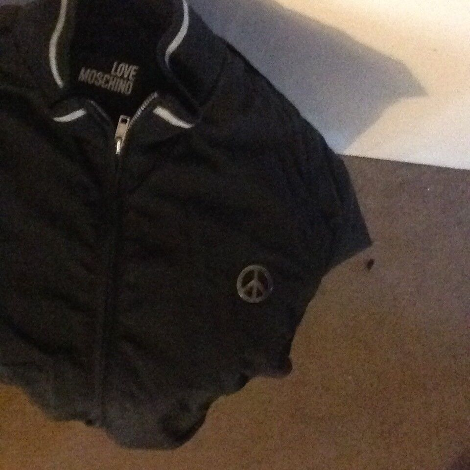 Love moschino black bomber jacket size 38