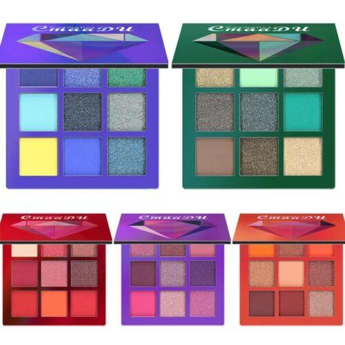 9 Farbe Eyeshadow Lidschatten Palette Glitter Pigmentierte Palette Matt Make Up