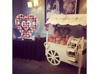 Candy Cart and Doughnut Wall