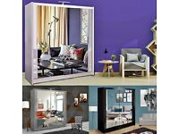 BRAND NEW CHICAGO SLIDING MIRROR WARDROBE AVAILABLE IN DIFFERENT