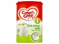 4 Cow and gate first baby milk UNOPENED