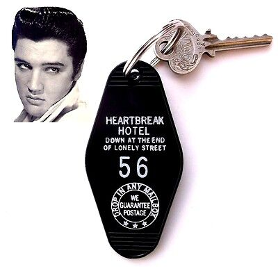 "Rare ELVIS PRESLEY novelty ""HEARTBREAK HOTEL"" rock & roll KEY TAG, concert, 1956"
