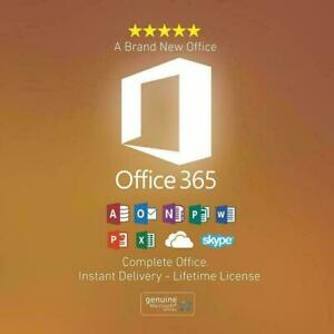 2019 Microsoft Office, Office 365, Windows 7, 8, 8.1, 10 Lifetime 5TB Onedrive + 100% Customer Satisfaction (Genuine)