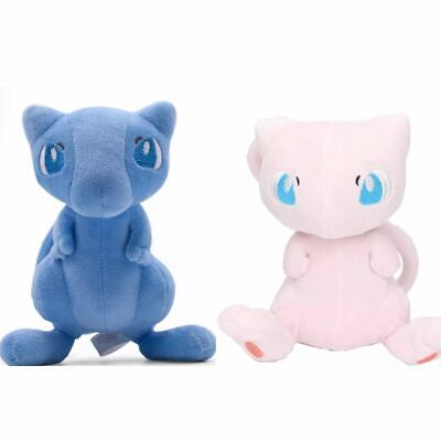 2 PCS  Pokemon Mew 6 INCH  For Cartoon Dolls Christmas Gift Plush Doll Figure