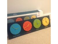 Habitat kids world time clocks
