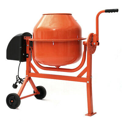 Portable Electric Cement Mixer 63L 220W Concrete Mortar Mixing Machines 230V NEW