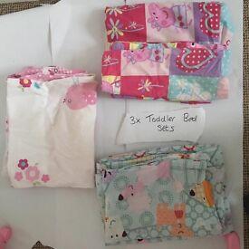 Girls Toddler Bed Sets x3