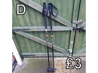 Walking Poles (D) - £3 for pair