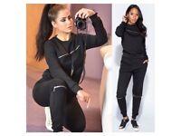 Women's black zip loungewear tracksuit size 6-14 £24