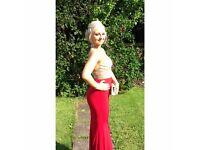 Stunning backless prom dress