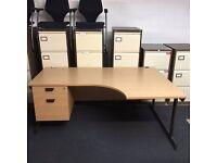 50 x 1800 oak desks and peds
