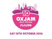 Oxjam Glasgow Takeover Festival - Volunteer Opportunities