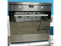 c098 stainless steel indesit single electric oven comes with warranty can be delivered or collected