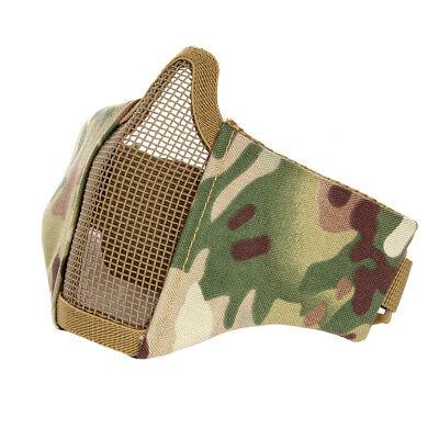 Mesh Maske (Camouflage Camo Airsoft Mesh Maske Schutzmaske Halbmaske Softair Paintball)