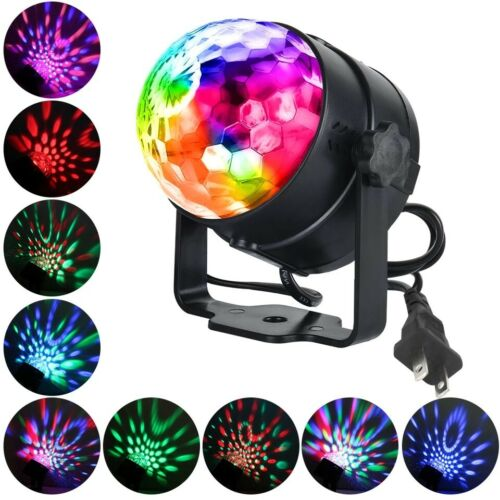 15 Colors Sound Activated  LED Disco Ball Lights w/ Remote Control