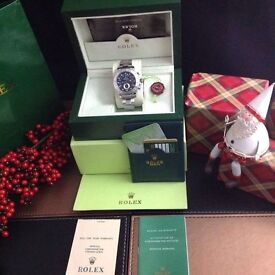 Silver Rolex Yacht Master II with black face all silver bracelet/Bezel complete with Rolex box&bag