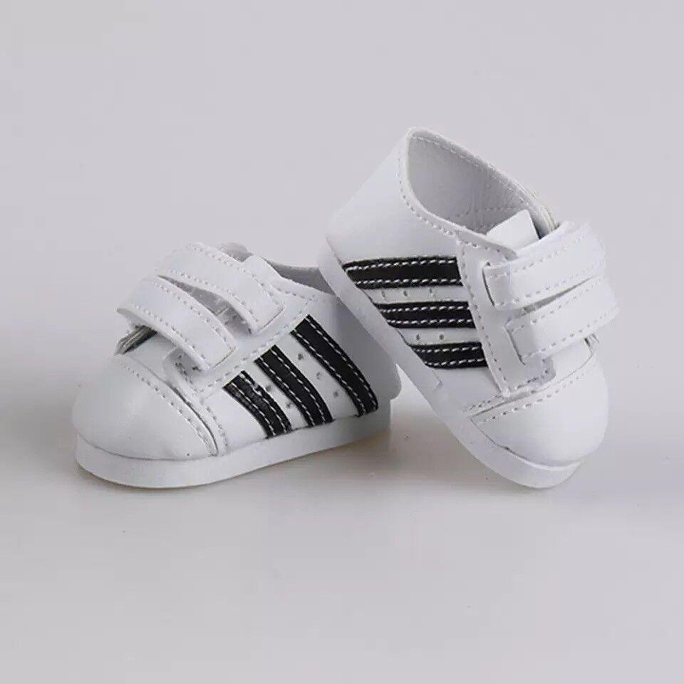 Puppenkleidung, Sneaker, Schuhe, weiss, 43 cm, zb. Baby Born/Sister, NEU
