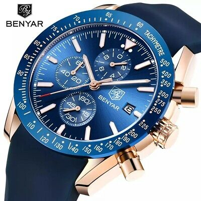 BENYAR Silicone Chronograph Mens Watch Luxury Watches for men Best Mens Gift