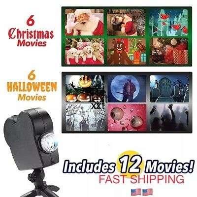 Halloween Christma Laser Projector 12 Movies Disco Light Mini home theater