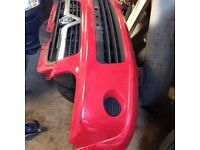 Vauxhall Agila Front bumper & Grill in Red removed from a year 2005