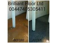 Resin floor or wall