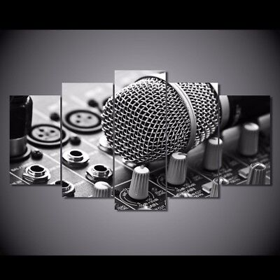 - Print Picture Music Microphone Painting Wall Art Decor Mixing Consoles Poster 5P