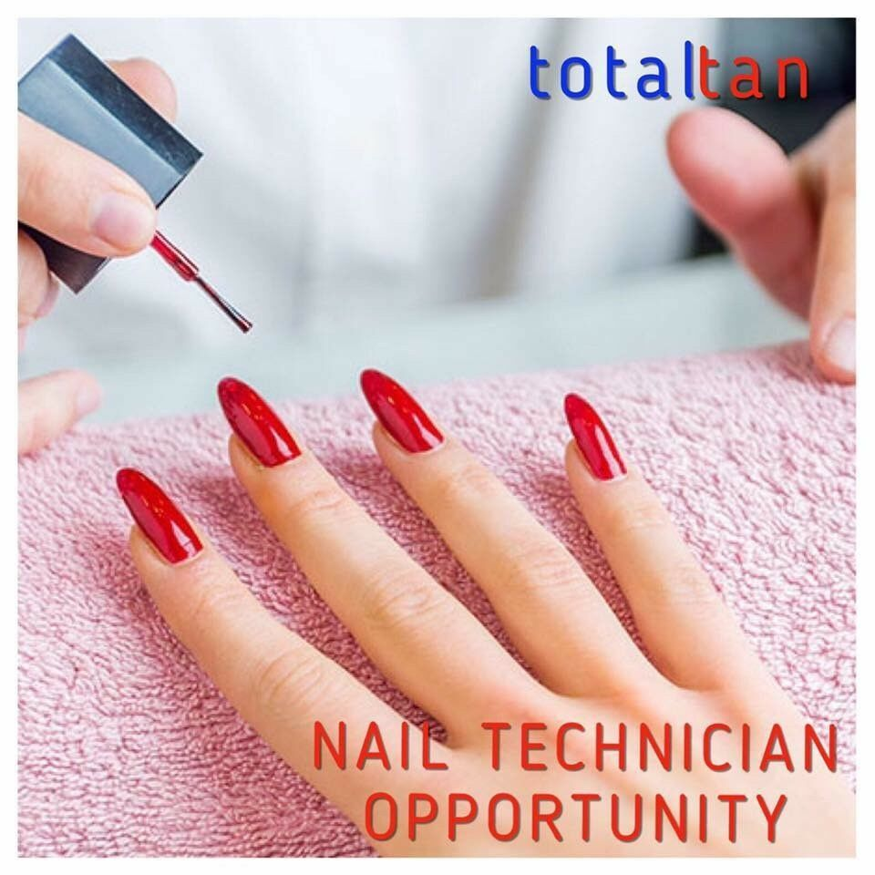 Nail technician table to let in Total Tan, a busy salon in the centre of Whitehead.