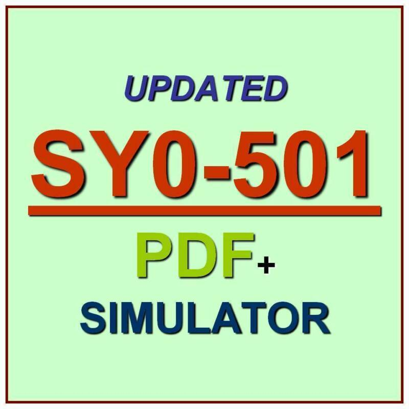 CompTIA Security+ PLUS Certification Test SY0-501 Updated EXAM QA PDF+Simulator