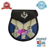 Falda Escocesa Sporran Semi Vestido Cruz / Bolso Tipo Silbato Escudo Insignia -  - ebay.es