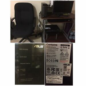 Complete computer set with printer, desk & office chair