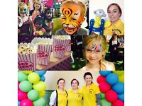 Face painting and balloon modelling training and work