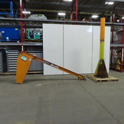 Abell-howe 12 Ton 1000lbs 10 Under Beam 10 Span Floor Mounted 360 Jib Crane
