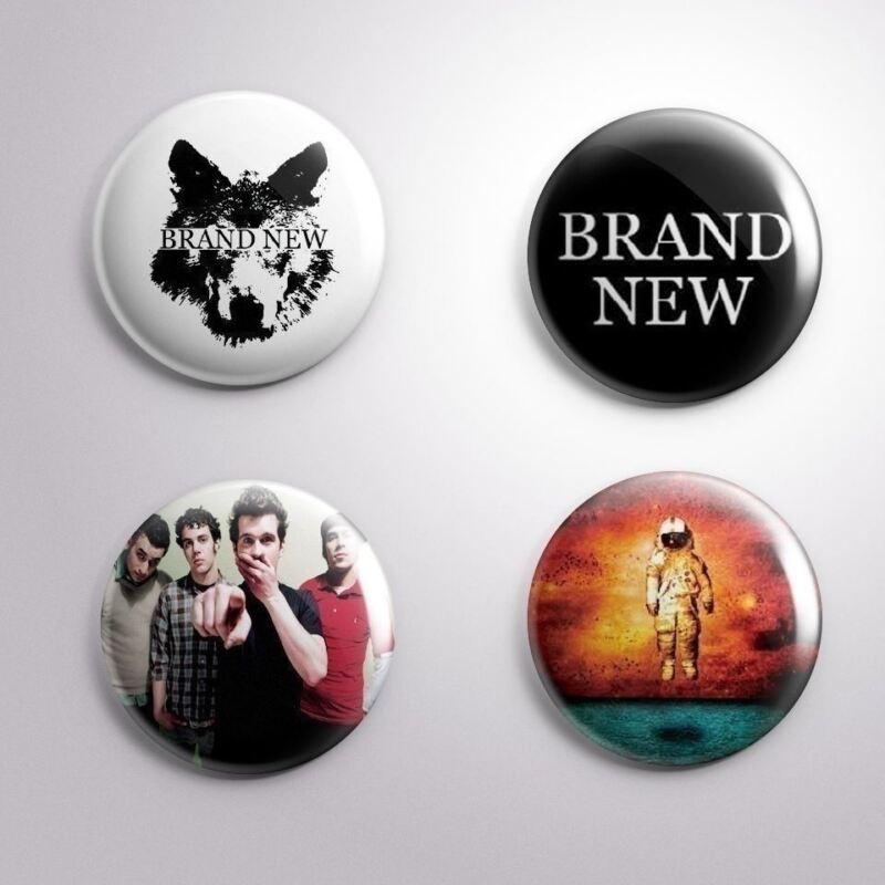 4 BRAND NEW- Pinbacks Badge Button Pin 25mm 1