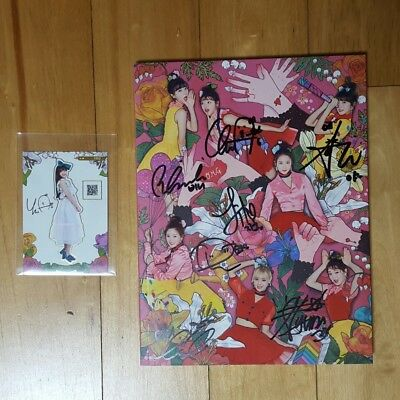 OH MY GIRL Coloring Book 4th Mini Album CD Photobook Photocard Signed