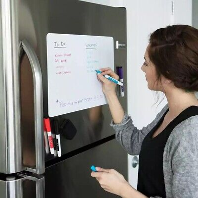 Magnetic Dry Erase Board For Fridge 12x8 Inch With 3 Magnetic Markers And Eraser