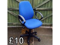 Blue Adjustable Office/Computer Chair