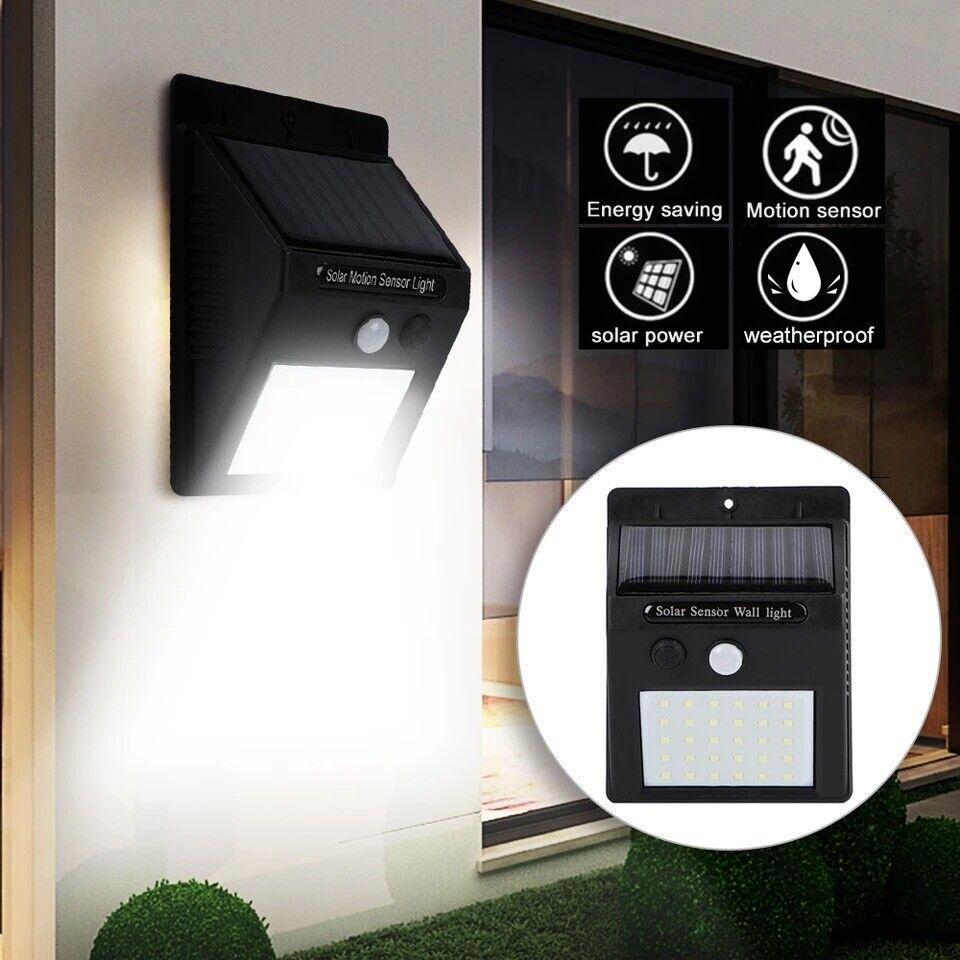 20 LED Solar Wall Lights Power PIR Motion Sensor Garden Yard Path Lamp Home & Garden