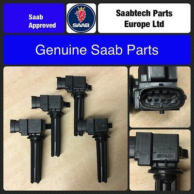 4 X GENUINE SAAB 9-3 03-12 DIRECT IGNITION COIL B207 -  BRAND NEW 12787707