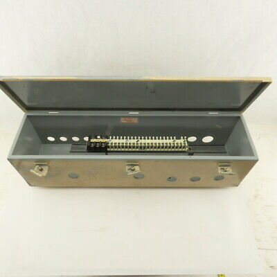 Hoffman 24x6x6 Electrical Enclosure Junction Box Wiring Trough