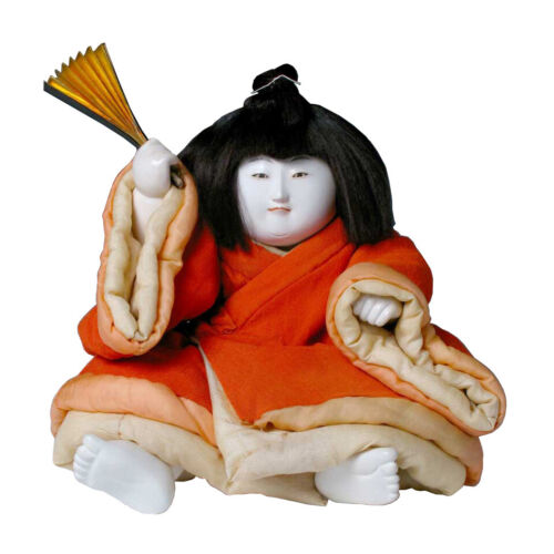 Antique Japanese Large Gosho Ningyo of Young Noble Boy