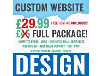 Cheap Web Design , YOU NEED A WEB SITE ? ONLY £24.99 ! Freelance Web Designer Responsive Design!
