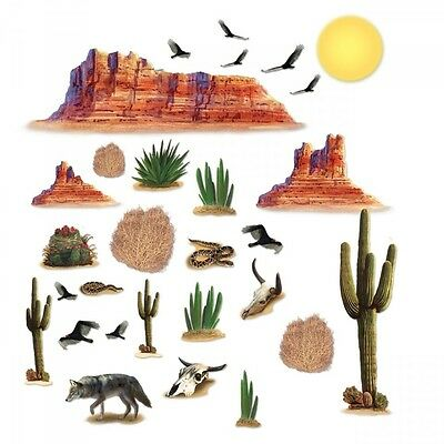 WILD WEST DESERT Wall PROPS (29 LARGE PROPS) Western Party Decorations