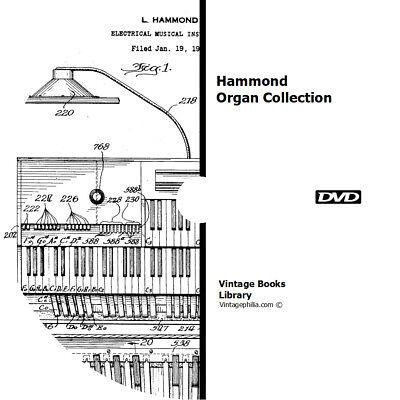 как выглядит 22 HAMMOND ORGAN MANUALS BROCHURES BOOKS on DVD REPAIR RESTORATION SERVICE фото