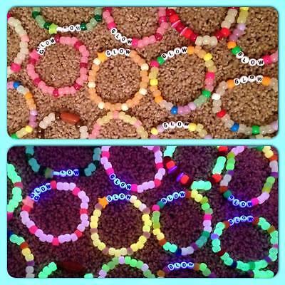 10 Glow Kandi bracelets for EDM Rave Festivals customize 3