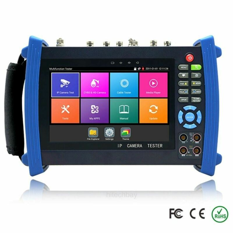 "IPC-8600 Plus Series 7"" CCTV Tester IP TVI CVI AHD SDI Camera 4K H.265 HDMI PoE"